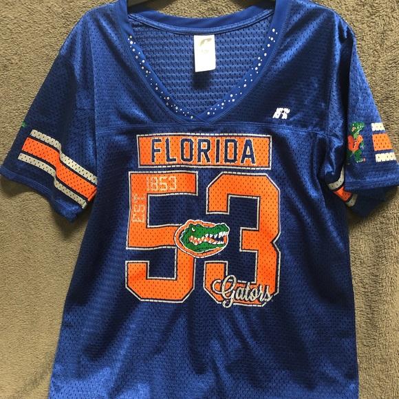 timeless design c7102 fbd81 Women Florida Gator Football Jersey w/ Rhinestones